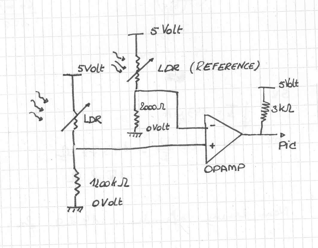 Intro L D R Circuit Diagram Then We Designed The That Would Use To Know When Laser Beam Is Shining On Target Ldr Decided Work With A Comparator