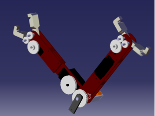Control of a brachiating robot for inspection of aerial power lines