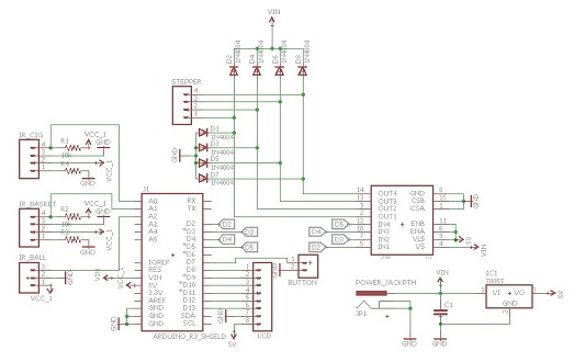 the first step was to put all the components and connect them on the  schematic in eaglecad software  the schematic and the pcb are presented  below:
